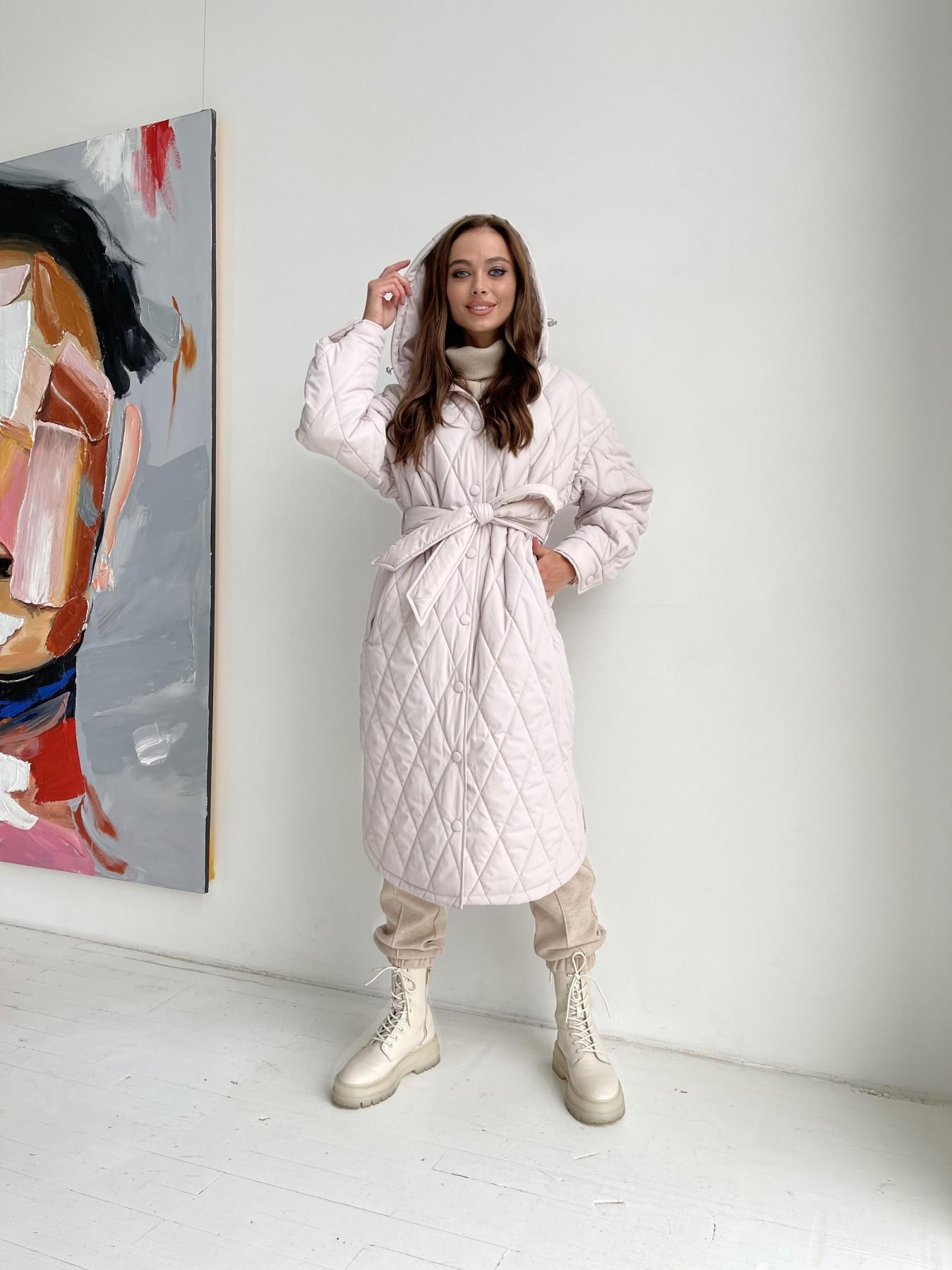 купить женскую демисезонную куртку в интернет магазине Пазл миди стеганое пальто из плащевки 11778