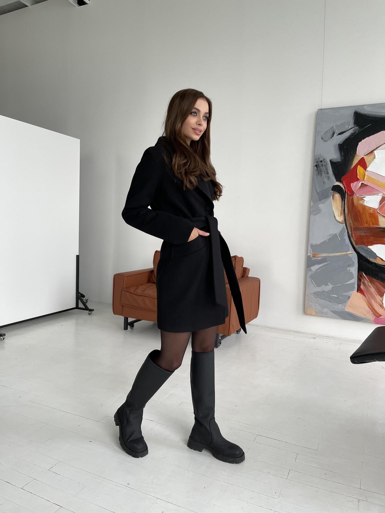 Вейсона пальто из гладкого кашемира 11803 АРТ. 48555 Цвет: Черный - фото 5, интернет магазин tm-modus.ru