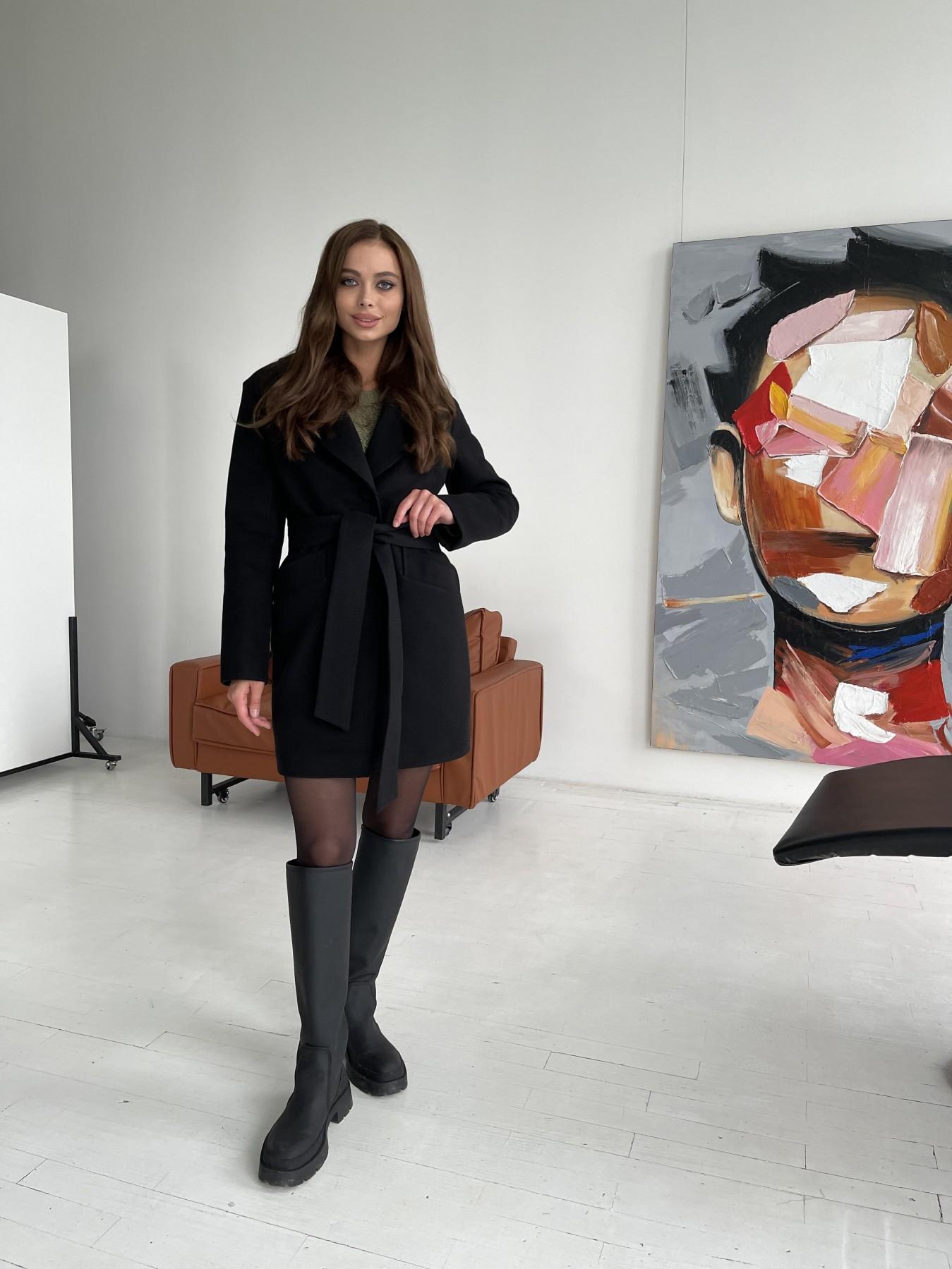 Вейсона пальто из гладкого кашемира 11803 АРТ. 48555 Цвет: Черный - фото 6, интернет магазин tm-modus.ru