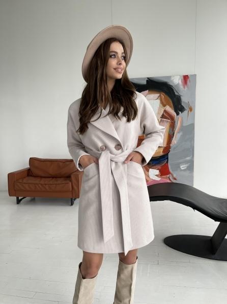 """Купить """"Сенсей"""" утепленное пальто из кашемира 11874 оптом и в розницу"""