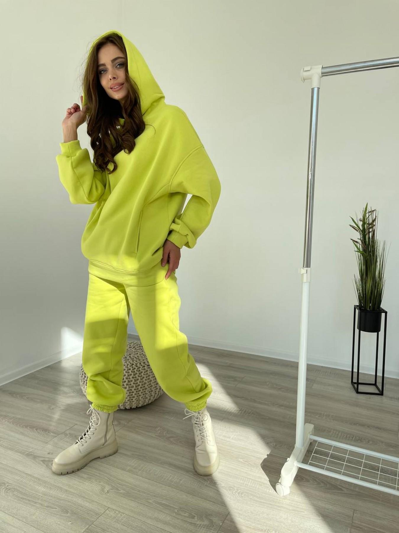 Марион утепленный костюм из трехнити 11852 Цвет: Салатовый