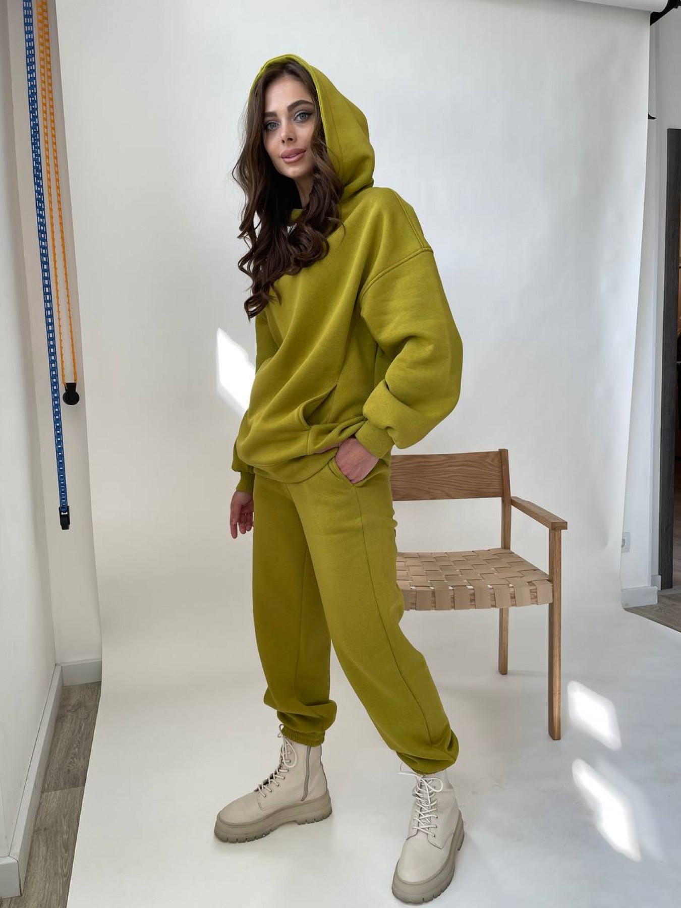 Марион утепленный костюм из трехнити 11852 Цвет: Фисташковый