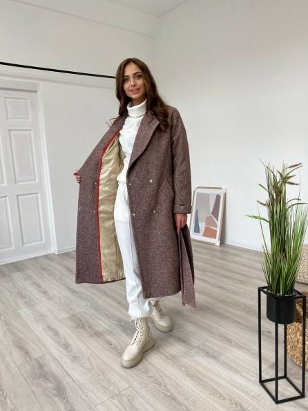 """Купити """"Влада"""" зимнее пальто из шерсти варенка 11935 оптом і в роздріб"""